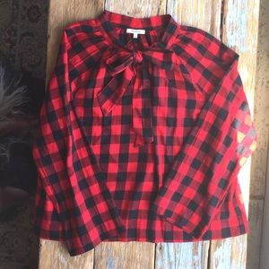 Madewell Buffalo Check Flannel Blouse